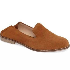 NEW 10 Sole Society Jameson Brown Suede Flat
